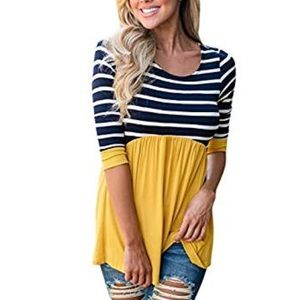 Tops - Contrast Striped Tunic